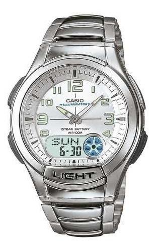 Reloj Casio Hombre Plateado Aq-180wd-7bvdf