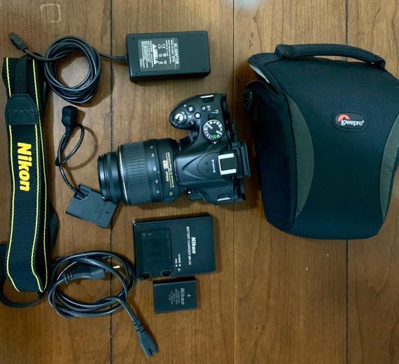 Nikon D5200+fonte De Alimentação+eliminador De Bateria