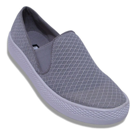 Zapato Confort Resorte Tenis Slip On Acojinado Plataforma