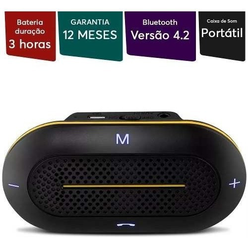 Caixa De Som Bluetooth Automotiva 3w Vox Au204 Multilaser