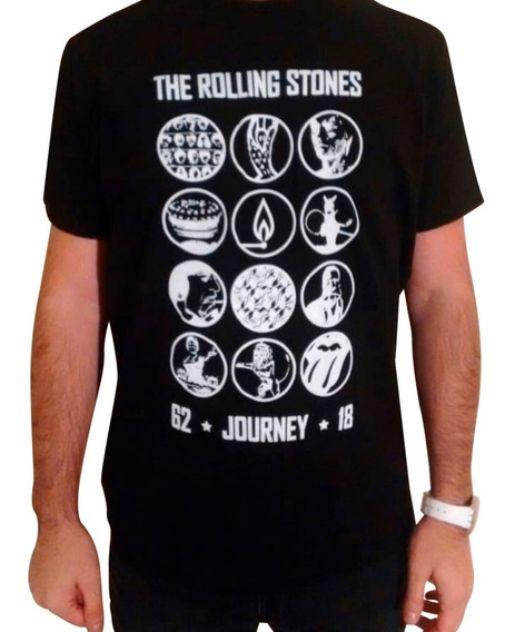 Remera Rolling Stones - Negra Talle S (unisex)