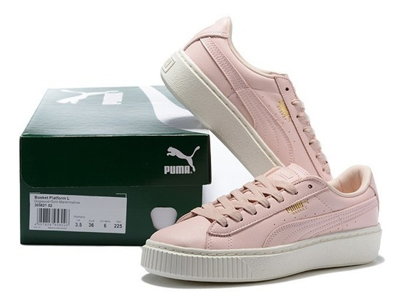 Tênis Puma Lindo Feminino Shoes Basket Plataform L Original