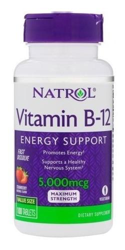 Vitamina B12 5000mg Natrol Sublingual 100 Unidades