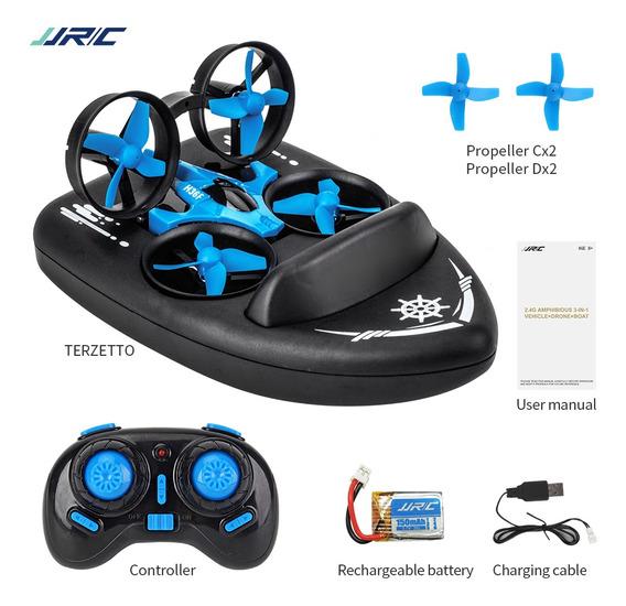 Dron Jjrc H36f Terzetto 3 En 1 Con Modo Bote Para Agua