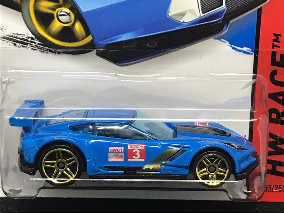 Hot Wheels Corvette C7.r - Azul Claro