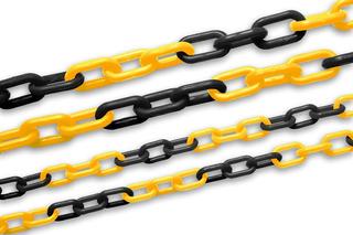 Cadena Plastica Desarmable Eslabonada Amarilla Negra