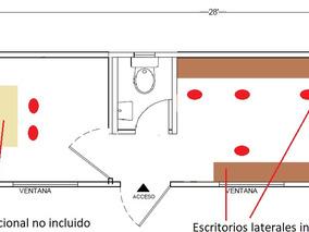 Oficina Movil De 8x28 Pies Camper Caseta Remolque Priv Y Wc