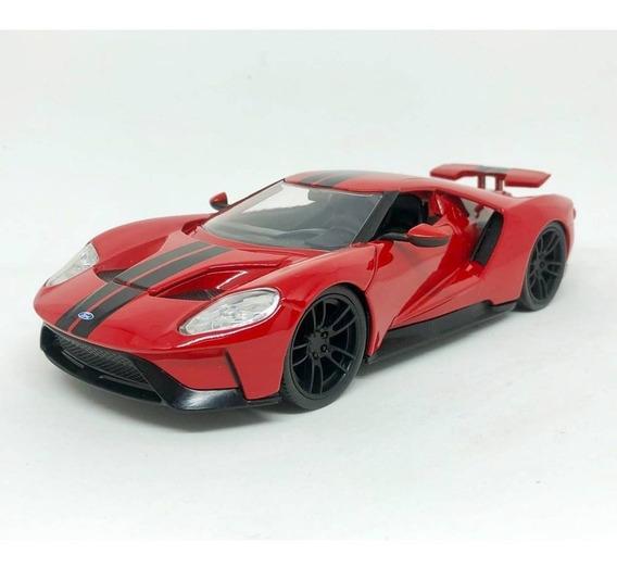 Miniatura Ford Gt 2017 Bigtime Muscle Vermelho 1:24 Jada