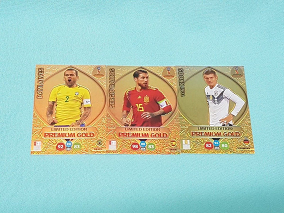 Cards Copa 2018 Adrenalyn 3x Limited Edition Premium Gold