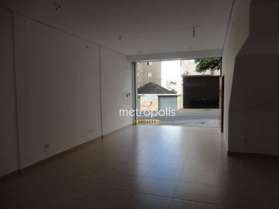 Salão Para Alugar, 50 M² Por R$ 1.700/mês - Nova Gerti - São Caetano Do Sul/sp - Sl0117