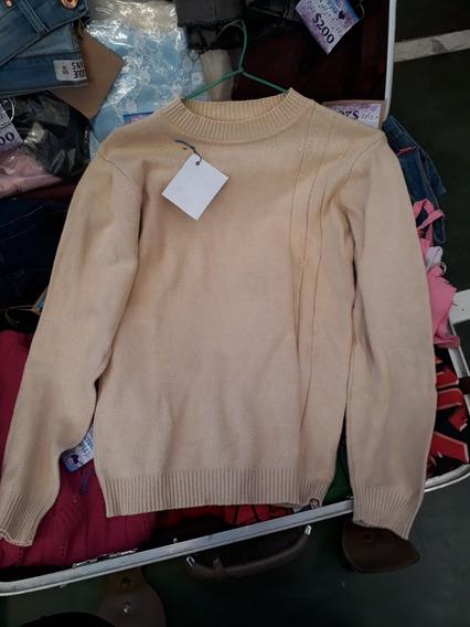 Pulover Sweter En Hilo Elastizado Color Maiz Talle U