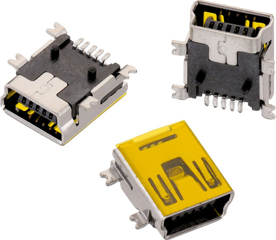Conector Pin De Carga Mini Usb Tipo B Smd De 5 Pines