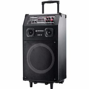 Caixa Amplificadora. Mundial 140w Rms Acompanha Mic. Sem Fio