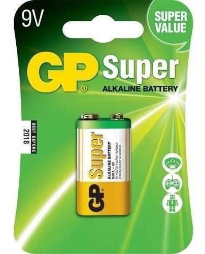 Kit Com 10 Bateria 9v Super Alcalina Gp