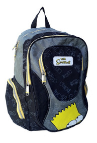 Mochila Bart Simpsons Original Resistente Notebook Tam G
