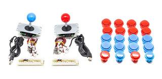 Kit Tipo Sanwa Palancas Y Botones Arcade Básico