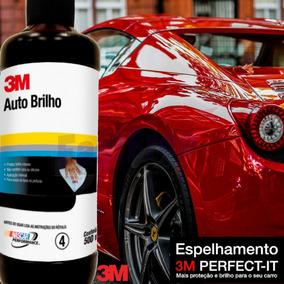 3m Kit Auto Brilho500ml + Cera Protetora Plus500ml+massa
