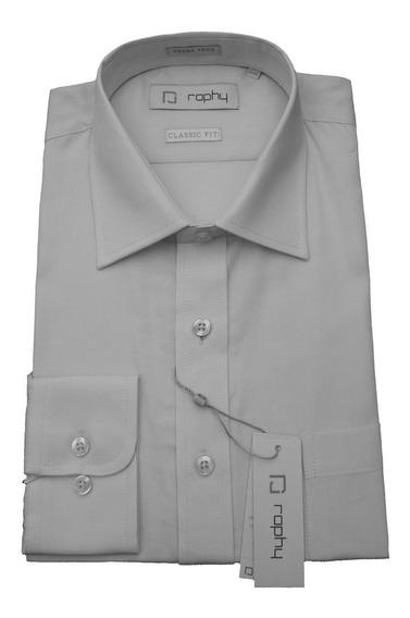 Camisa Raphy Casinha De Abelha Manga Longa Cinza Claro