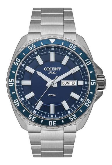 Relógio Orient Masculino Ref: Mbss2027 D1sx Solar Prateado