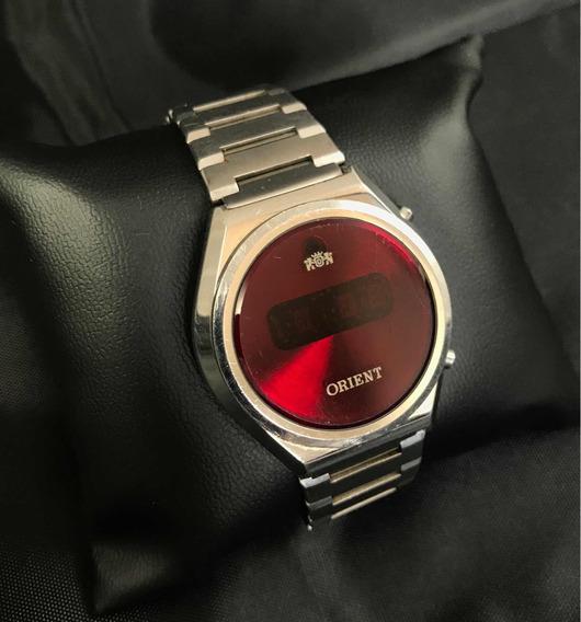 Relógio Orient Led Touchtron Digital Vintage Máscara Negra