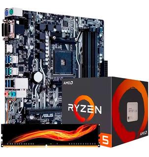 Kit De Actualizacion Gamer Amd Asus B350m Ryzen 5 3400g 8gb