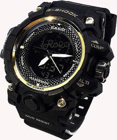 Relógio Casio G-shock Preto E Dourado Lançamento - Na Caix