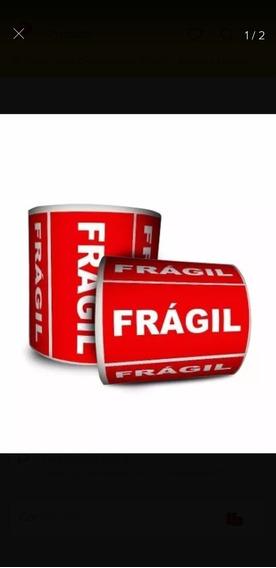 Etiqueta Adesiva Frágil 100x50 Com 1000 Etiquetas 4 Uni.