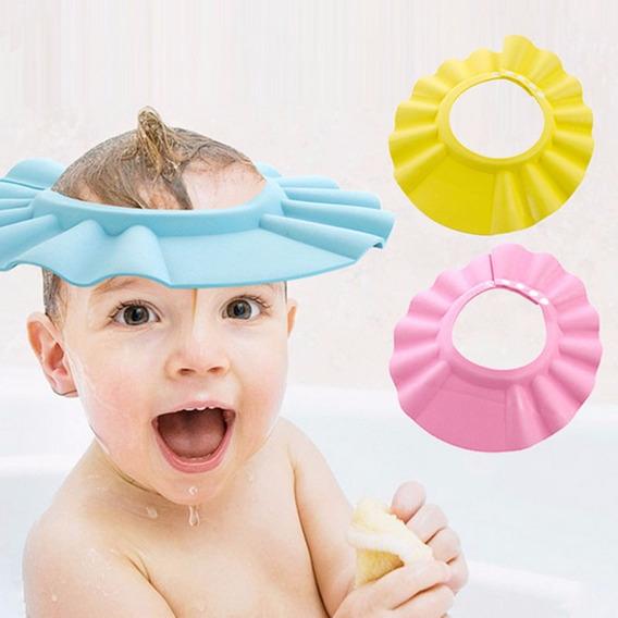 Chapéu Viseira Proteção Bebê Banho Eva Anti-shampoo