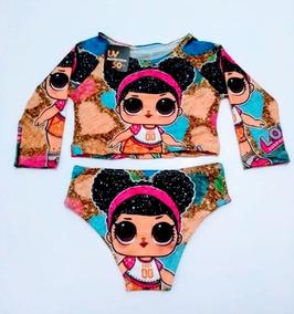 48bdf92054862f Biquini Cropped Infantil Lol, Ariel, Minnie Tam 2 Ao 6