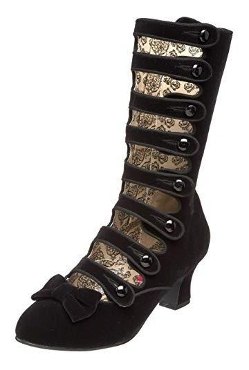 Botines Botas Zapatos Victorianas Steampunk Negros Damas 1