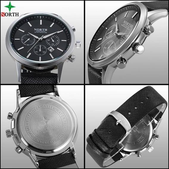 Reloj North Elegante Cueropara Hombres Caballeros Deportivo