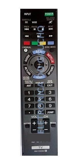 Controle Remoto Sony Smart Similar Rm-yd090 Função Netflix