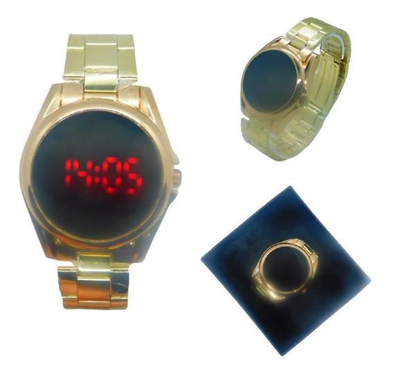 Relógio Unisex Digital Led Touch Screen Moderno Mais Caixa