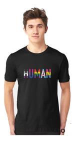 Camisa Masculina Blusa Algodão Premium Lgbt Humano Moderno