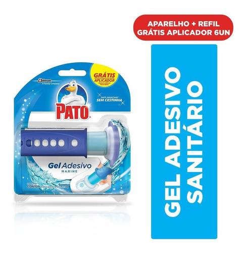 Odorizador Sanitário Pato Gel Adesivo Aplicador + Refil