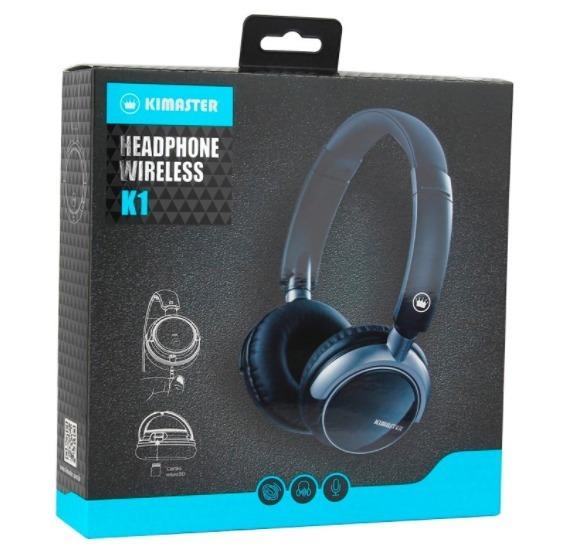 Fone Bluetooth Headphone Kimaster K1/ Kb1 Fm Cartão Sd Top