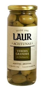 Aceitunas Grandes Con Carozo Laur X 200 Gramos