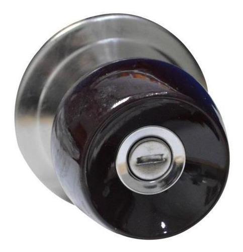 Imagen 1 de 1 de Chapa Bola Baño P/madera Color Vinotinto Escudo Cromado