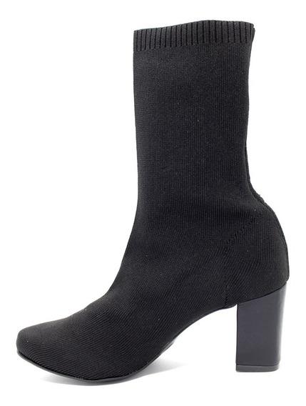 Bota Feminina Offline Sock Preta