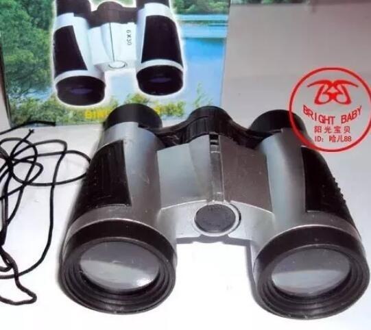 30 Binóculos Infantil + 30 Mini Lanterna + 30 Lupa Zoom 50mm