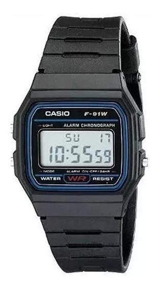 Relógio Masculino Original Cassio Digital Esportivo F-91w