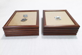 10 Cuadros De Madera Diploma, Carta, Vidrio Antirreflejante
