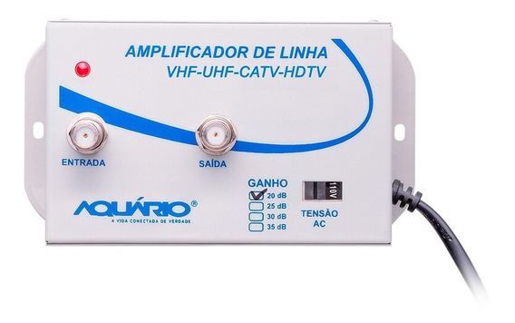 Amplificador Sinal De Linha Para Tv 20db Al-20