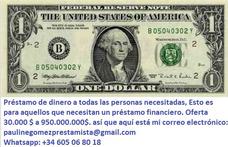 Oferta De Préstamo Whatsapp: +34 605 06 80 18