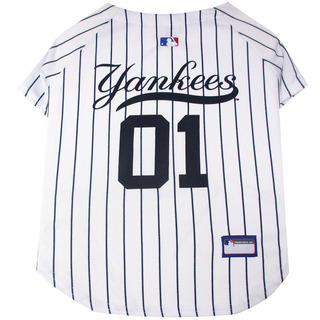 Pets First Mlb New York Yankees Dog Jersey, X-small. - Pro T