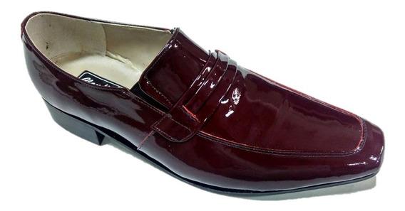 Sapato Social Masculino Em Couro Natural Ou Verniz Ref.730