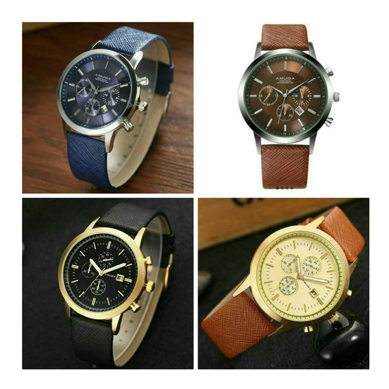 Relógio Masculino Amuda Com Estojo Original Luxo Promoção