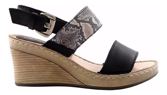 Sandalia Cuero Mujer Cavatini Confort Zapato Goma Mcsd04619