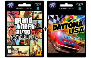 Gta San Andreas + Daytona Usa Ps3 Digital Original