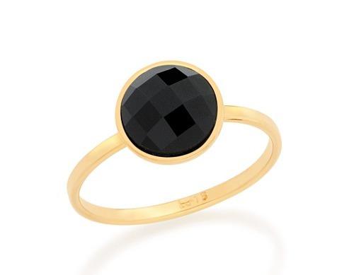 Anel Skinny Ring Solitário Pedra Cabuchão Rommanel 512608